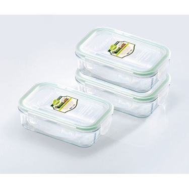 Go Green GlassLock 14 Ounce Storage Set by Kinetic
