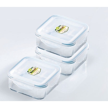 Go Green GlassLock 30 oz. Square Food Storage Set by Kinetic