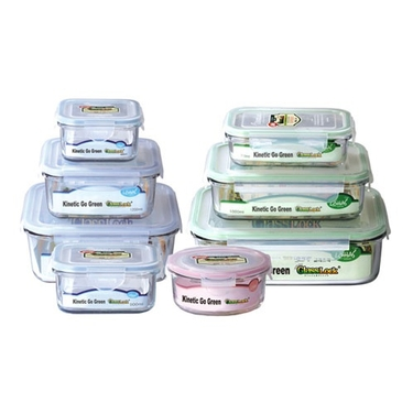 Go Green Glasslock 8 Piece Food Storage Set by Kinetic