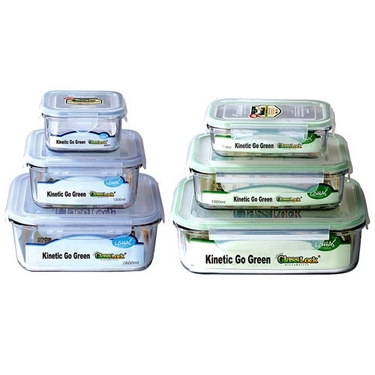 Go Green Glasslock 6 Piece Food Storage Set by Kinetic