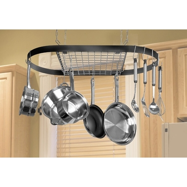 Wrought Iron Oval Pot Racks by Kinetic