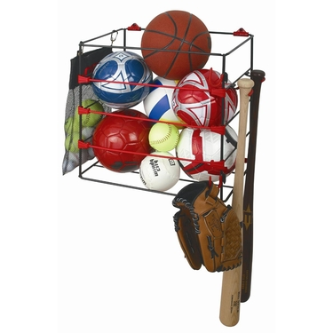 Ball & Bat Sports Storage Rack by Racor