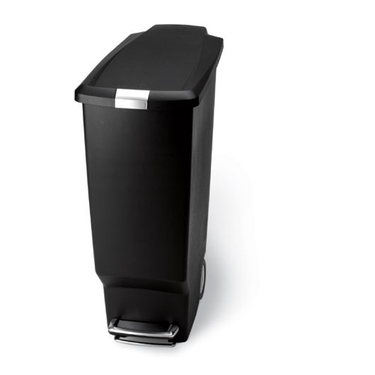 simplehuman® Plastic Slim Step Can: Black