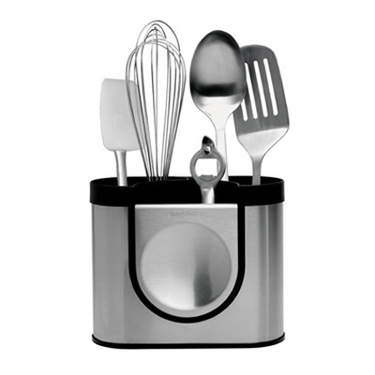 Brushed Stainless Steel Utensil Holder by simplehuman