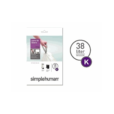 Sure-Fit Trash Can Liners:<br> Size K by simplehuman®