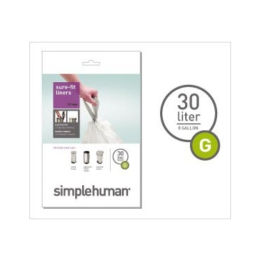 Sure-Fit Trash Can Liners:<br> Size G by simplehuman®