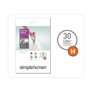 Sure-Fit Trash Can Liners:<br> Size H by simplehuman®