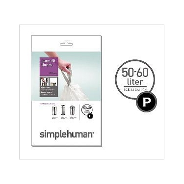 Sure-Fit Trash Can Liners:<br> Size P by simplehuman