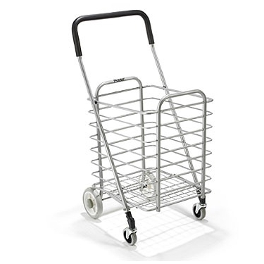Lightweight Foldable Aluminum Shopping Cart by Polder