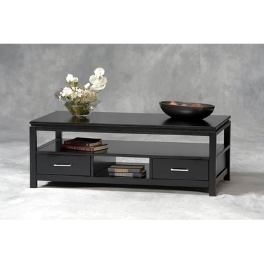 Linon Sutton Black Coffee Table: Black Contemporary Finish
