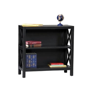 Linon Antique Black 3-Shelf Bookcase: Anna Collection