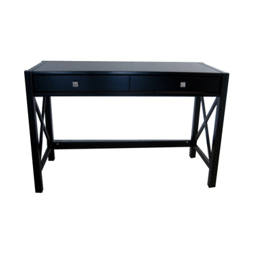 Linon Antique Black Home Office Writing or Laptop Desk: Anna Collection