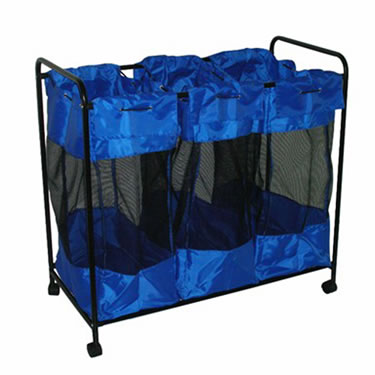 3 Section Sports Equipment Organizer