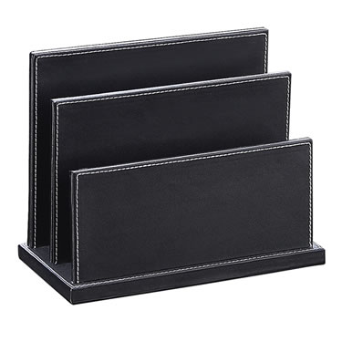 Ebony Collection - Desktop Letter Holder
