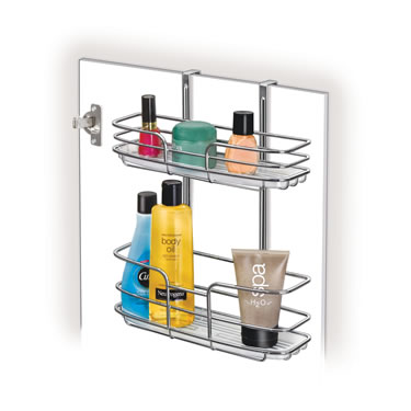 Over Cabinet Door Shelf - Double Shelf w/ Molded Tray