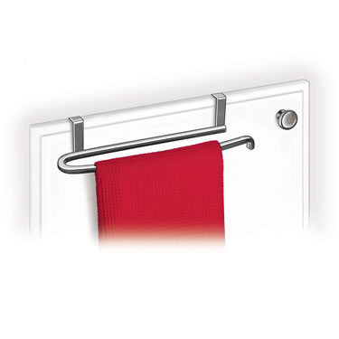 Over Cabinet Door Towel Bar - Chrome