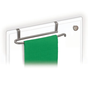 Over Cabinet Door Towel Bar - Satin Nickel