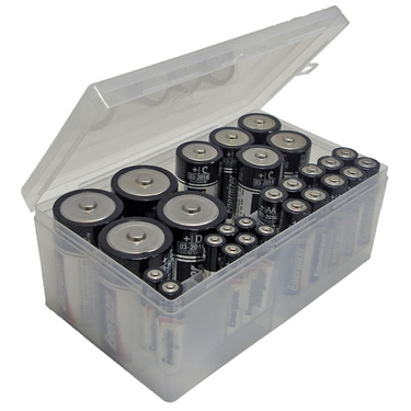 Multi Size Battery Storage Box by Dial