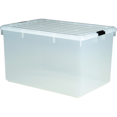 Iris 33 Gallon Clear Stackable Plastic Container