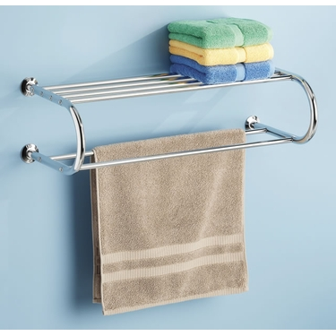 Chrome Shelf and Towel Rack by Whitmor