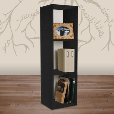 3 Shelf Storage Cube & Bookcase - Black