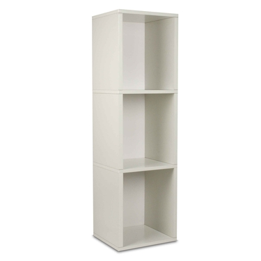 3 Shelf Storage Cube & Bookcase - White