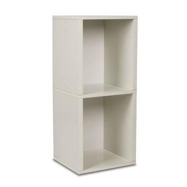 2 Shelf Storage Cube & Bookcase - Black