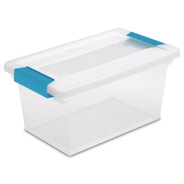 Medium Clip Boxes (4 Pack) by Sterilite