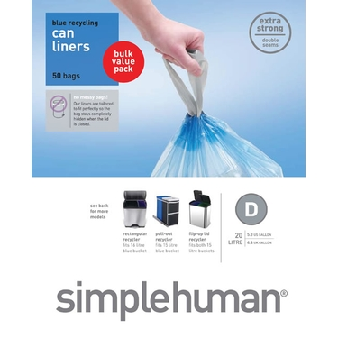 Recycling Can Liners: Size D by simplehuman®
