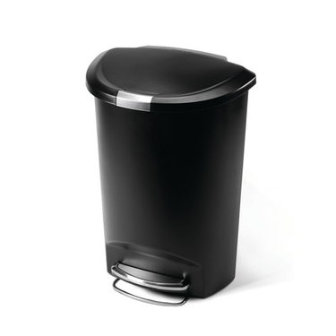 Plastic Semi-Round Step Can from simplehuman