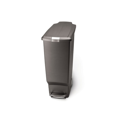simplehuman® Plastic Slim Step Can: Grey
