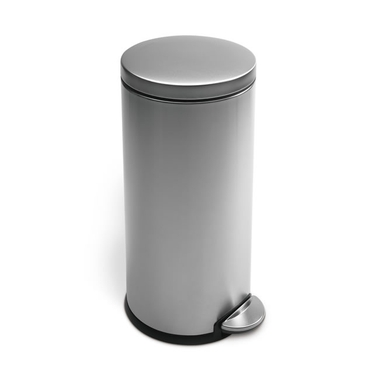Stainless Steel Round Step Can from simplehuman - 8 Gallon
