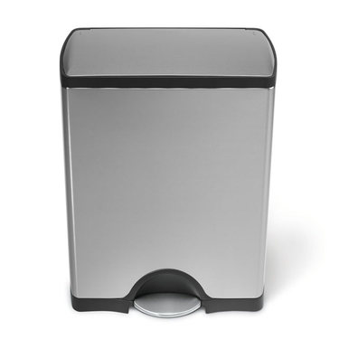 Rectangular Stainless Steel Step Can from simplehuman®