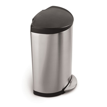 Semi-Round Stainless Steel Step Can from simplehuman®