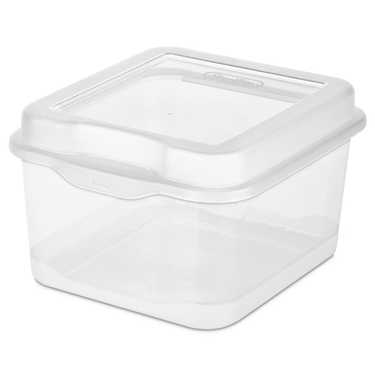 Sterilite Medium Flip Top Clear Storage Box - Case of 12