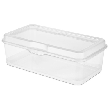 Sterilite Large Flip Top Plastic Storage Box  sc 1 st  Space Savers : cd storage box with lid  - Aquiesqueretaro.Com