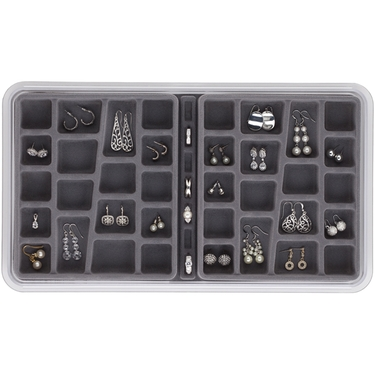 Neatnix 36 compartment Earring Organizer - Pearl Grey