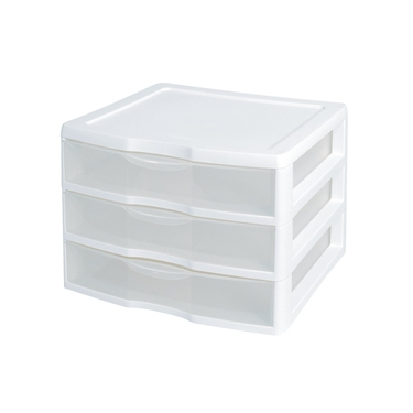 Sterilite ClearView Wide 3 Drawer Unit