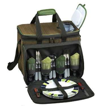 Eco-Friendly Picnic Cooler for Four