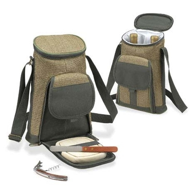 Two Bottle Wine and Cheese Tote