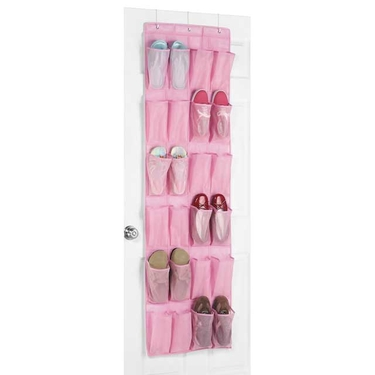Pink Over The Door Shoe Organizer