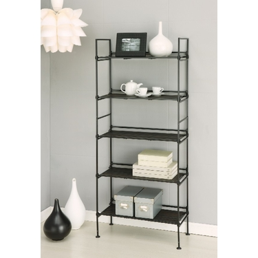 Ebonize Collection 5 Tier Shelf by Organize It All