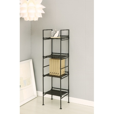 Ebonize Collection 4 Tier Square Shelf by Organize It All