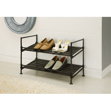 Ebonize Collection 2 Tier Shoe Rack by Organize It All