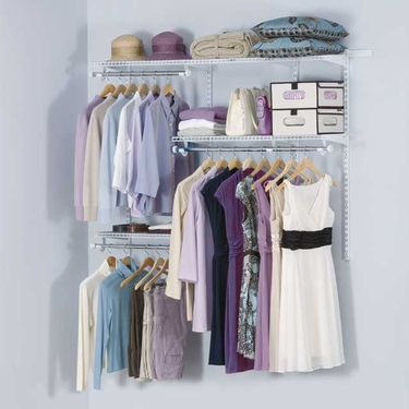 3'-6' DIY Classic Configurations Closet Kit - Rubbermaid