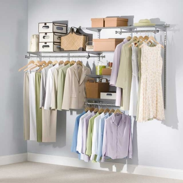 4'-8' DIY Classic Configurations Closet Kit - Rubbermaid