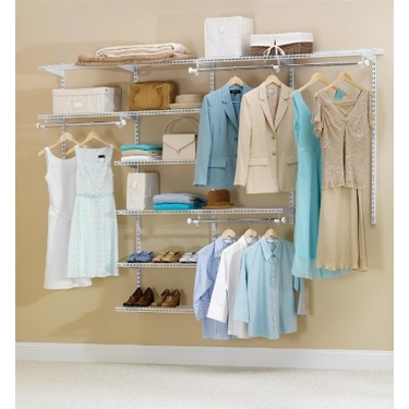 4'-8' DIY Deluxe Configurations Closet Kit - White Finish