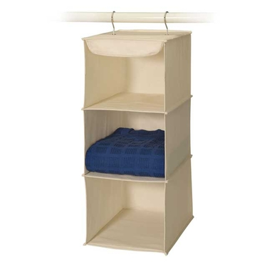 Natural Canvas 3 Shelf Sweater Organizer - Richards