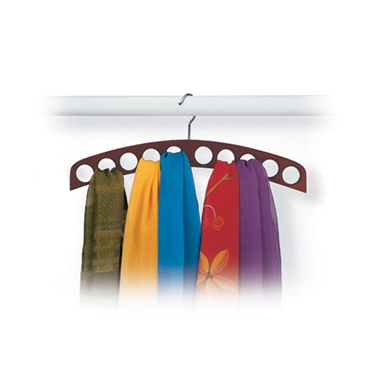 Walnut 10-hole Scarf Hanger by Richards
