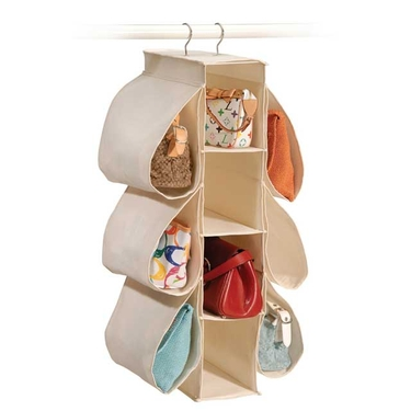 Natural Canvas Hanging Handbag Organizer by Richards